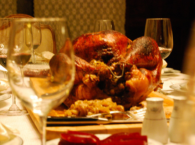It's difficult to avoid gaining weight at the holidays due to the enormity of the holiday feasts.