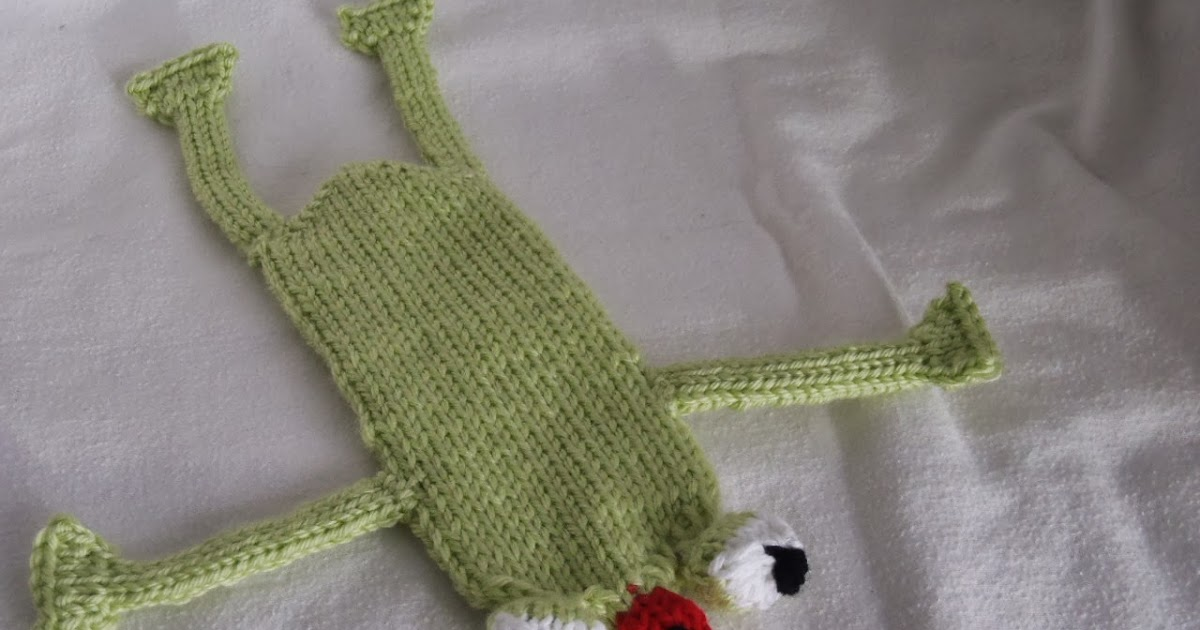Abbreviation Kfb In Knitting : Stana s critters etc knitting pattern for fred the frog