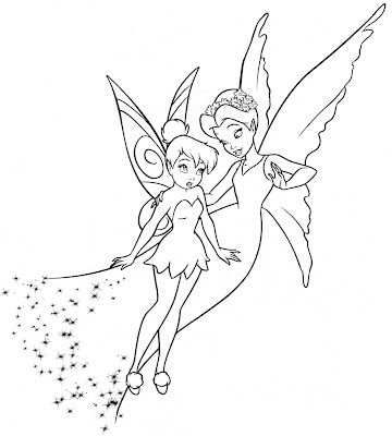 Desenho da Fada Sininho para colorir