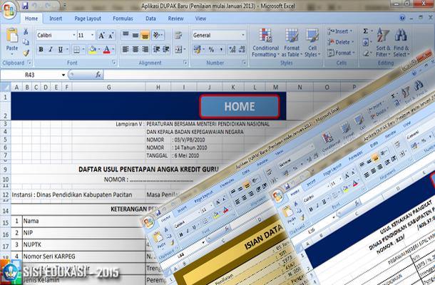 Aplikasi DUPAK, Panduan, Juknis dan Format Contoh untuk Pengajuan Angka Kredit