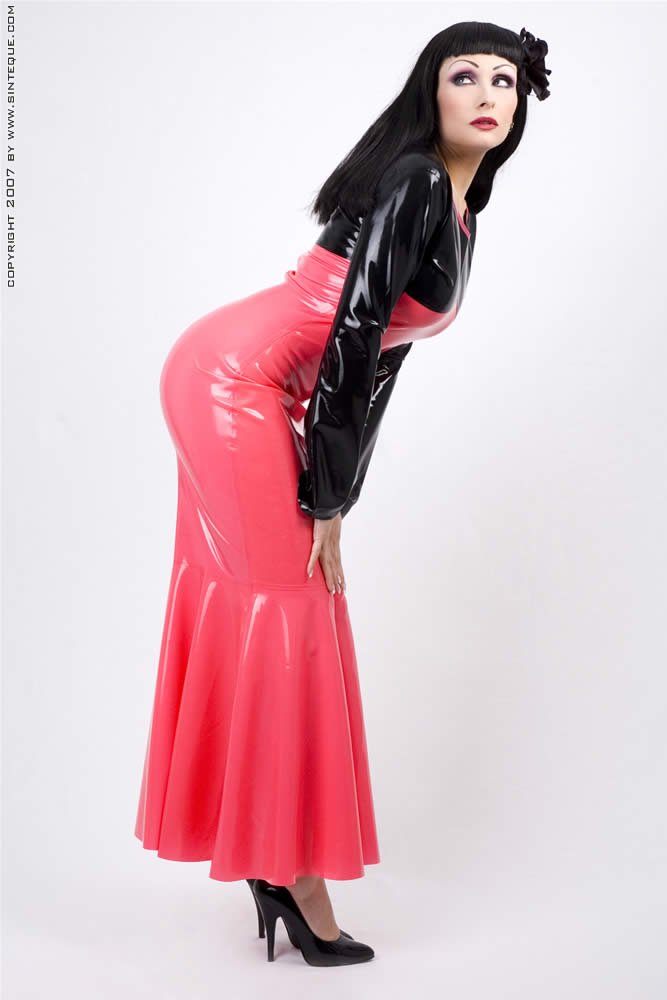 Long Skirts u0026 Dresses Long Latex Skirts
