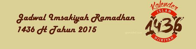 jadwal imsak 2015