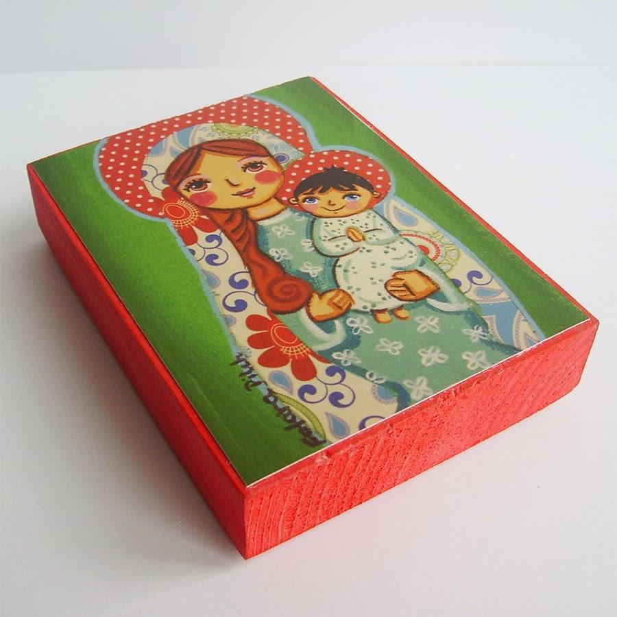 Drewniany obrazek obraz ilustracja święty święta patron święci błogosławiona błogosławiony dla dziewczynki chłopca chłopczyka dziecka prezent upominek na gwiazdkę ozdoba dekoracja bożonarodzeniowa świąteczna Jezus Chrystus Matka Boska Boża różaniec Maryja dziecko pamiątka chrztu chrzest pierwsza bierzmowanie komunia narodziny urodziny