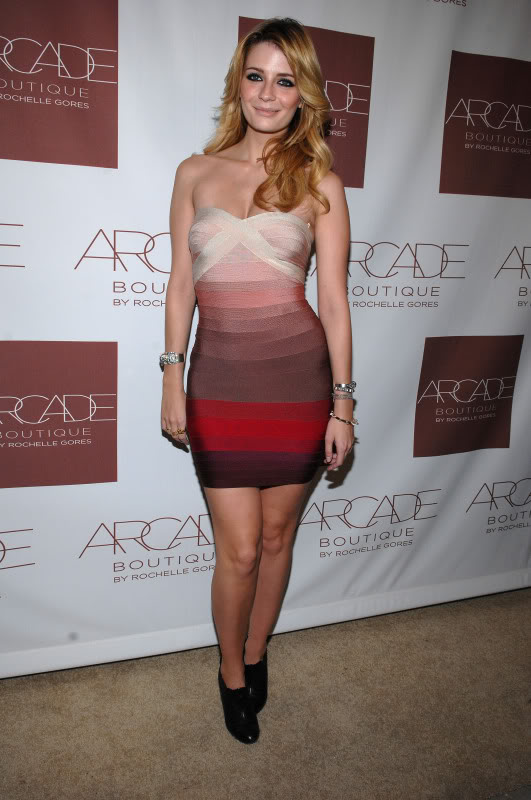 Fade Pink Strapless Bandage Dress Inpired By Mischa Barton