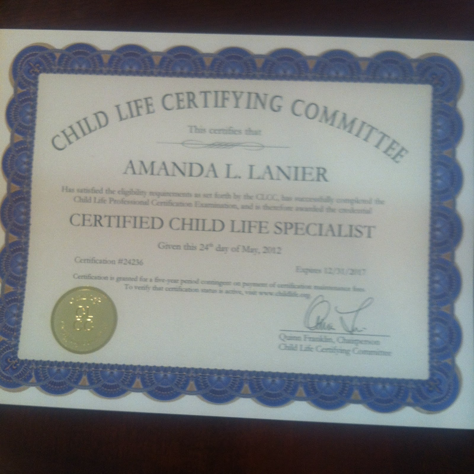 specialist certified child town official