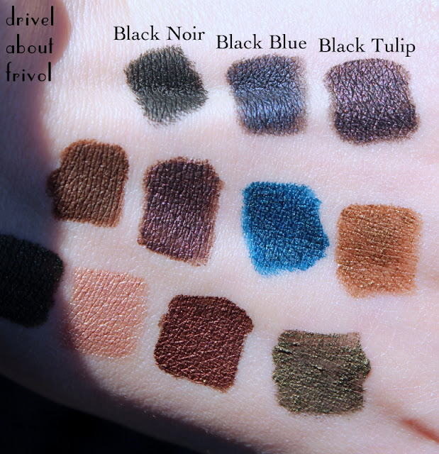 Pixi Endless Silky Eye Pen eyeliner Swatches Black Noir, Black Blue, Black Tulip
