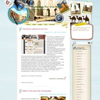 Highlights For U in Morocco Blogger Template. free download template blogspot