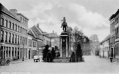 Willem III standbeeld - ansichtkaart
