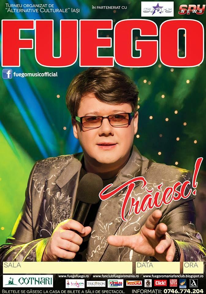 """FUEGO prezintă Turneul Naţional """"TRĂIESC!"""", 20-30 aprilie 2015"""