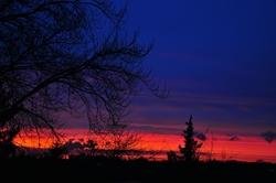 Roter Horizont...