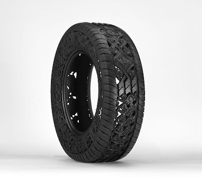 Cool and Creative Hand Carved Car Tires (15) 2