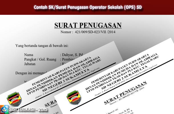Contoh SK-Surat Penugasan Operator Sekolah (OPS) SD