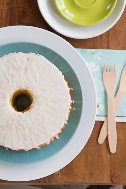 Torta chiffon de naranja-limón
