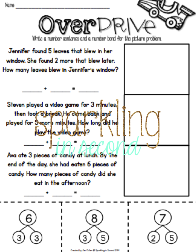 number bonds, decomposing, adding, numbers 1-10, first grade, common ...