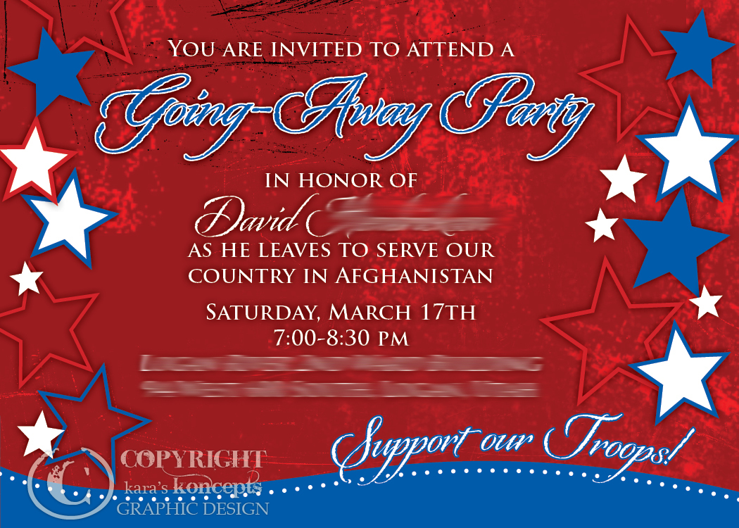 military going away party invitation - Going Away Party Invite