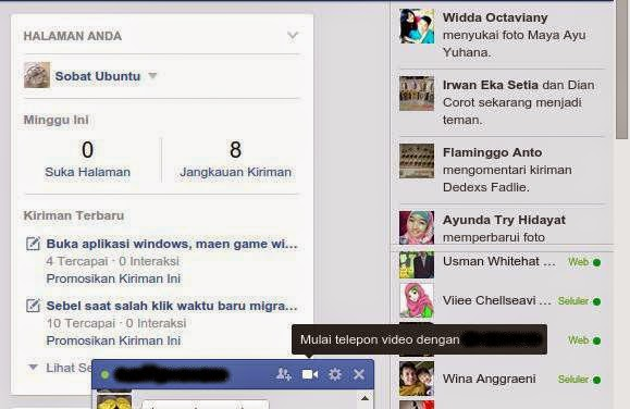 Cara Video Call Facebook di Ubuntu