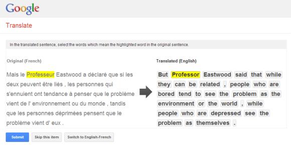 english to french google translate
