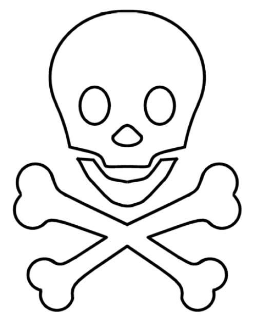 Calavera pirata imprimir - Imagui