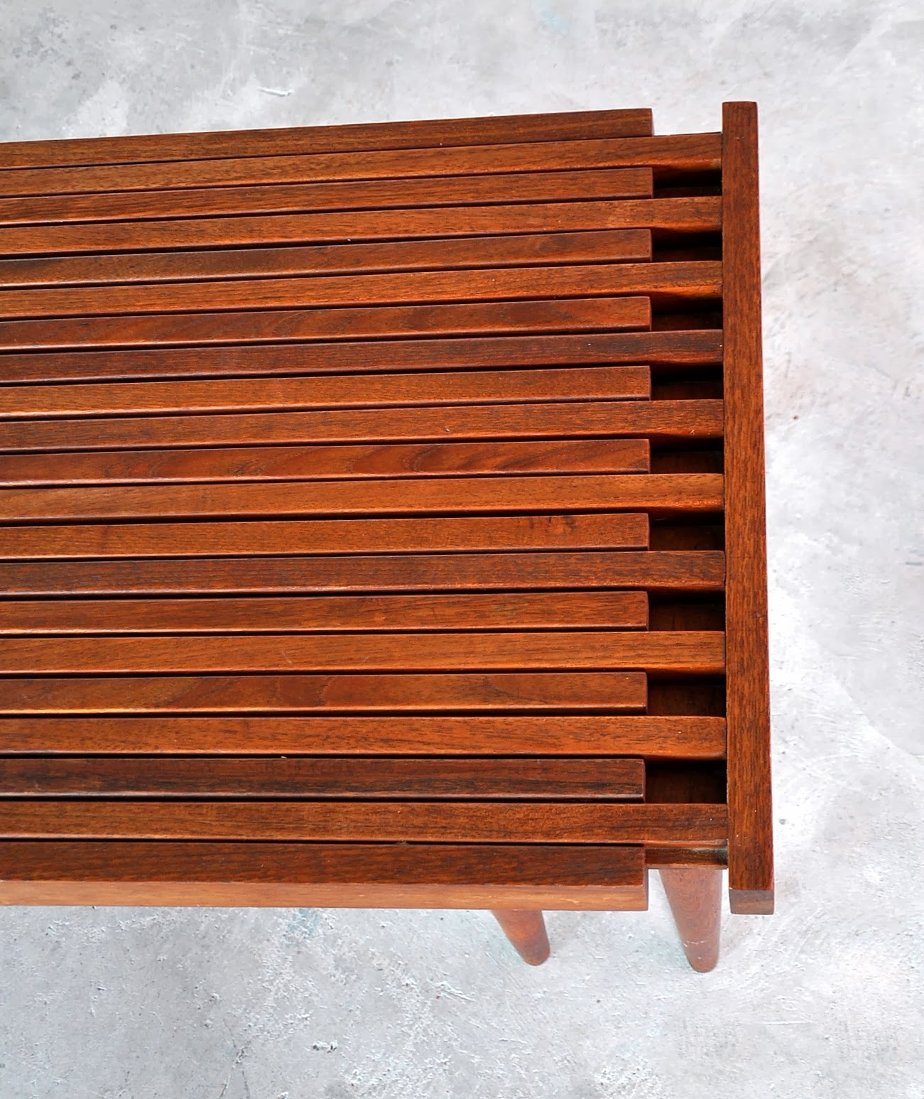 SELECT MODERN Brown Saltman Expandable Teak Slat Bench or Coffee