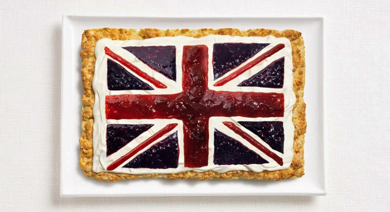 18 National Flags Made From Food - United Kingdom