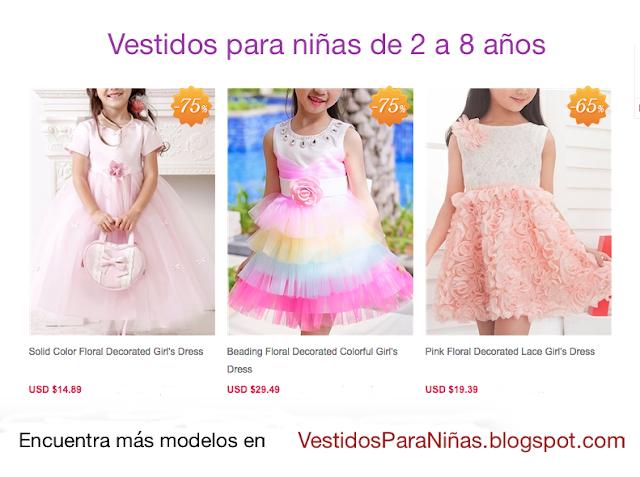 Vestidos para niñas de 6 años