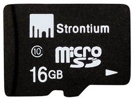 Strontium 16GB MicroSD Memory Card -Class 10 for Rs.229 (Rs.150 Cashback)