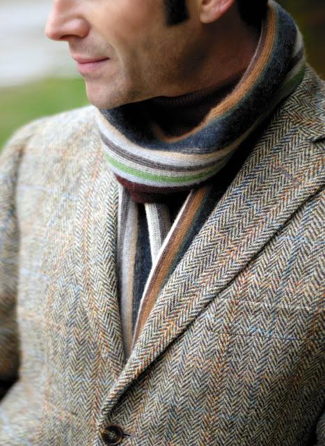 Wzór w jodełkę to również znak rozpoznawczy tkanin tweedowych
