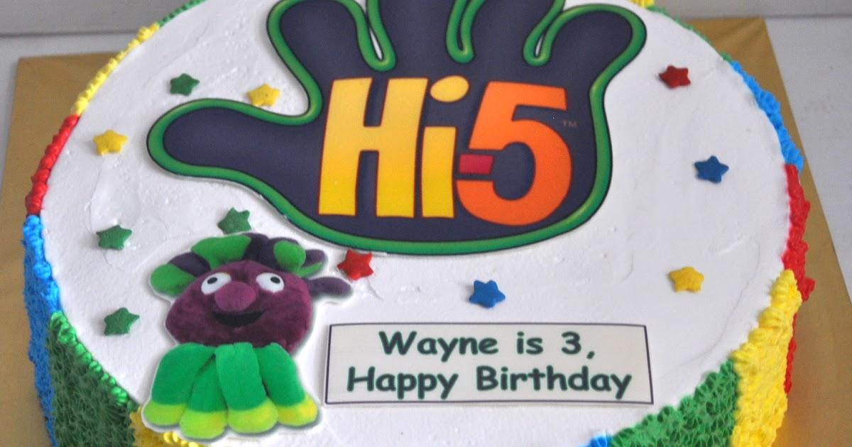 Izahs Kitchen Hi 5 Theme Cake For Wayne