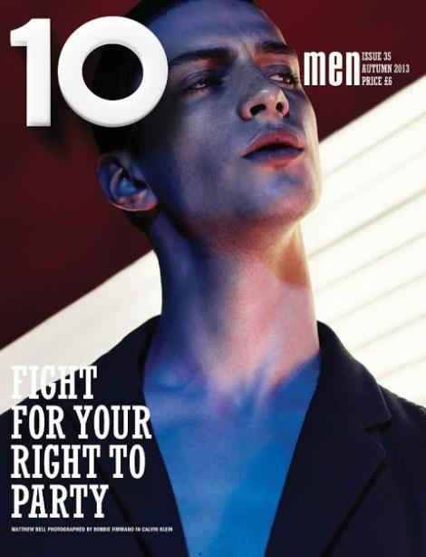 Matthew Bell wearing Calvin Klein AW13 in 10 Men Magazine