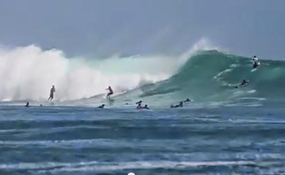 big wafe surfing g-land east java