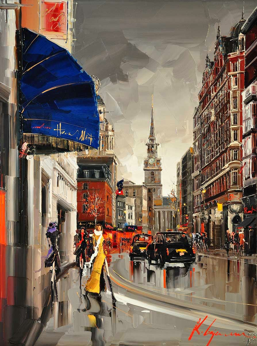 30-St-Martins-Lane-London-Kal-Gajoum-Paintings-of-Dream-Like Cities-of-the-World-www-designstack-co