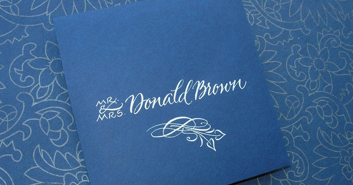 Wedding calligraphy by jane farr indianapolis