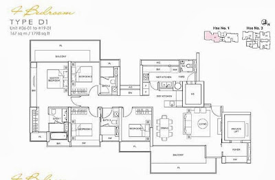 Lincoln Suites 4 bedroom Floor Plan