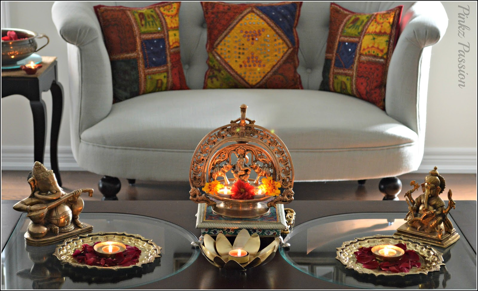 Pinkz passion diwali inspiration 2 home tour for Home decorations on diwali
