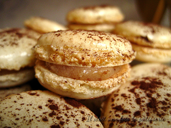 macaron à la crème de marron, meringue italienne