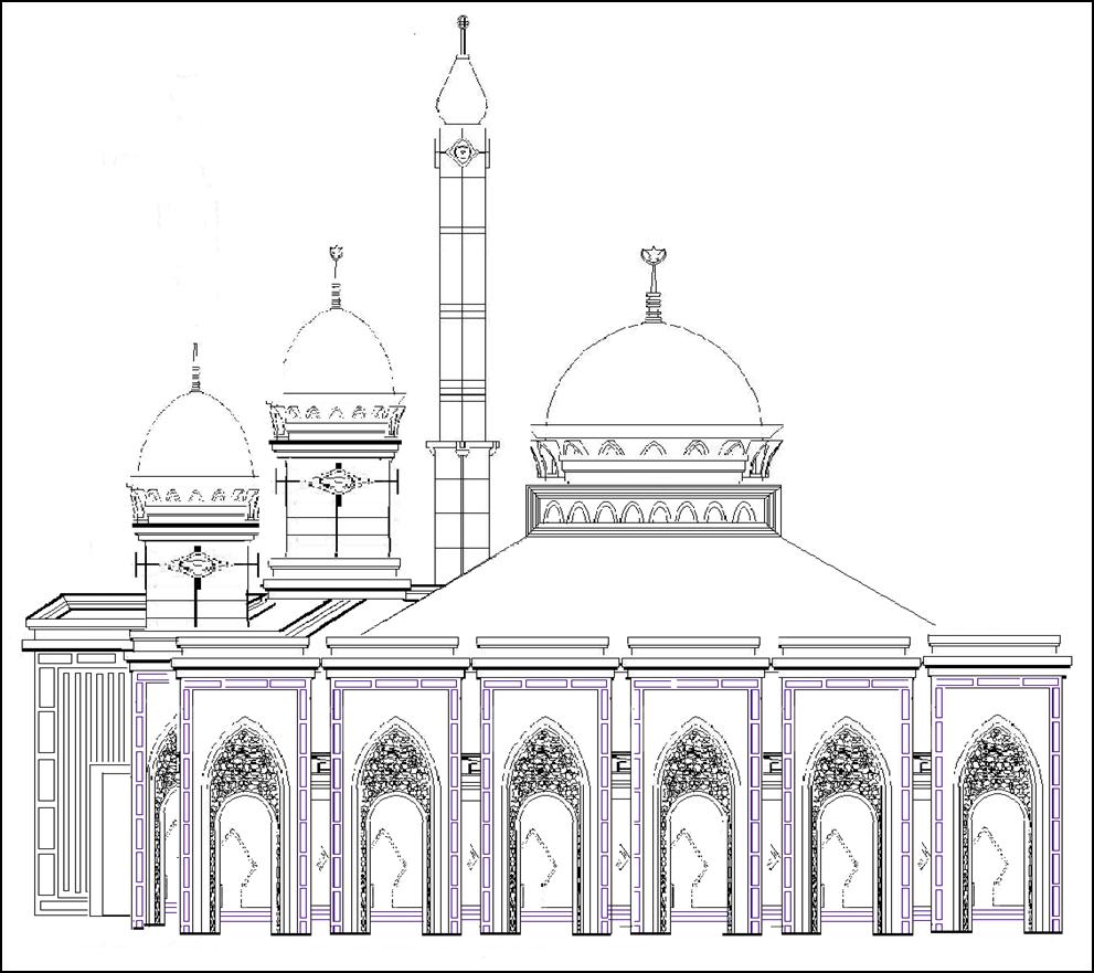 masjid jami al mujahidin pakuhaji   tangerang desain