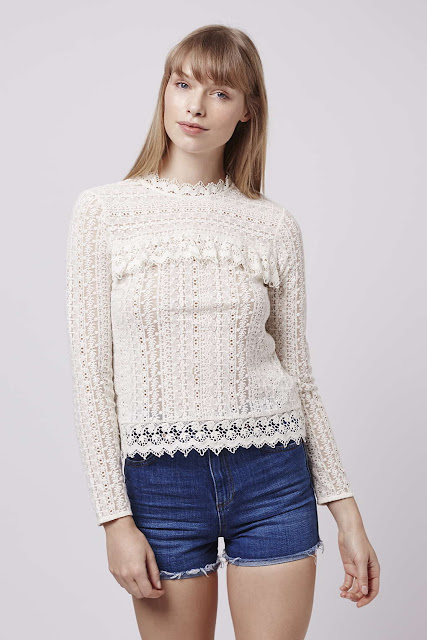 victorianna cream top, topshop victorianna top, cream frilly embroidered top,