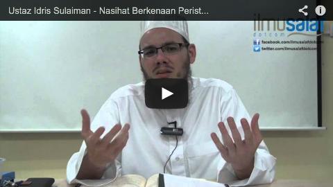Ustaz Idris Sulaiman – Nasihat Berkenaan Peristiwa Kehilangan Kapal Terbang #MH370