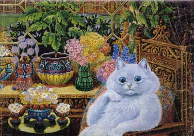 Painting Of Cat By Psychotic Artist