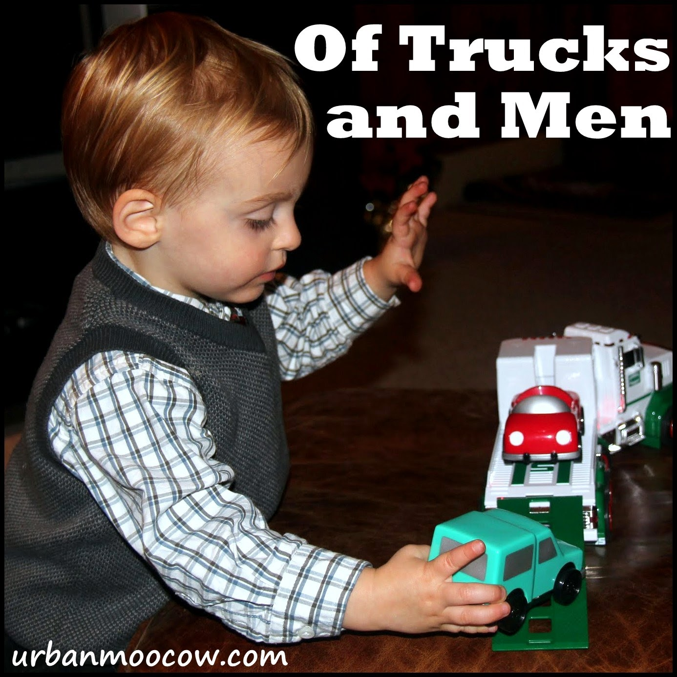Are little boys destined to love trucks and trains?