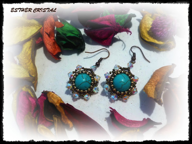 TEAL EARRINGS DE ANN BENSON