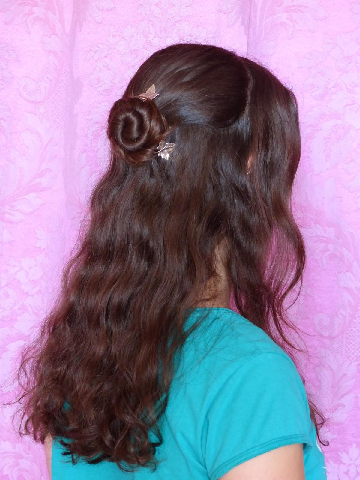 coiffure demi cinnamon avec epingles manoel
