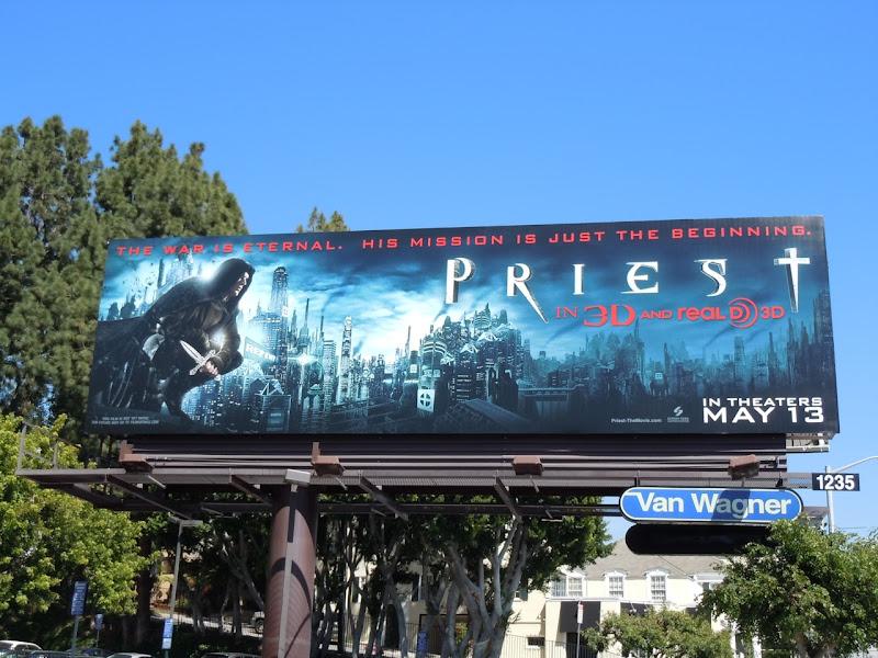 Priest movie billboard