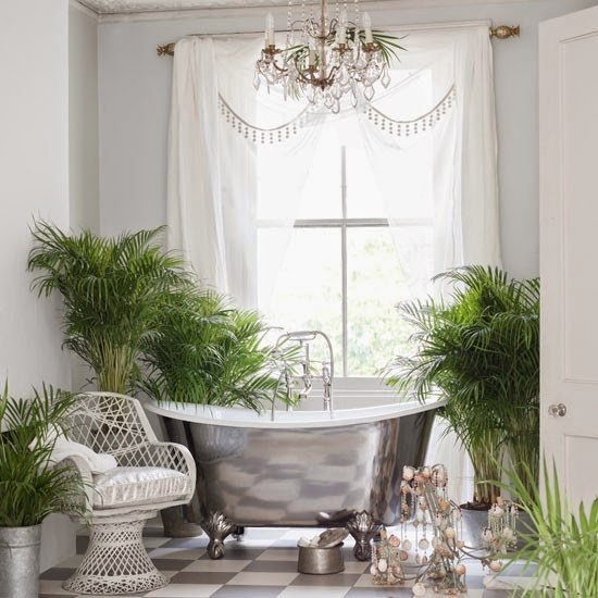 home and garden bathroom indoor plants ideas