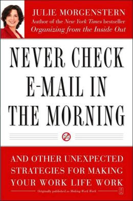 book cover - Never Check E-Mail In the Morning