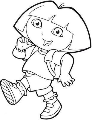 Pintar y Colorear a Dora Exploradora  Colorear y Pintar ...