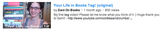 Your Life in Books Tag - An Original Idea by Dani on Books