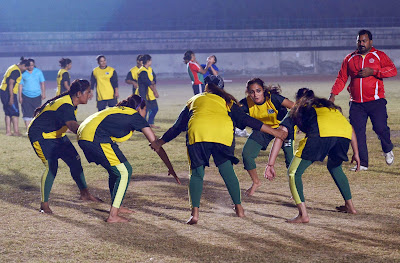 Sports, Women, Kabaddi,, Team, Lahore, Punjab, Stadium, Islam, World Cup, Tag-wrestling, Practice, India, Pakistan, South Asia, World, Country, Muslim,