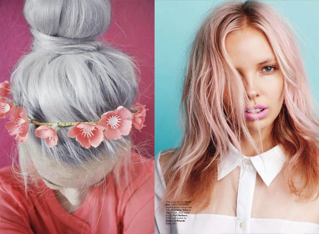 pastel trend spring summer 2014 pink hair purple hair