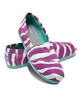 Purple Zebra Womens Toms Shoes